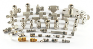 Fittings, Rohrnippel, Rohrverschraubungen, T-Fittings, Ellbows